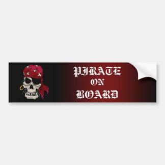 Pegatina para el parachoques del pirata a bordo pegatina para auto