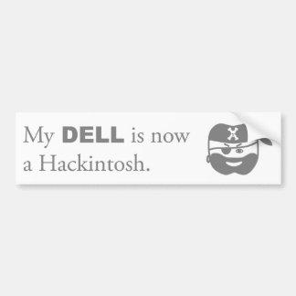 Pegatina para el parachoques del pirata de Hackint Pegatina Para Auto