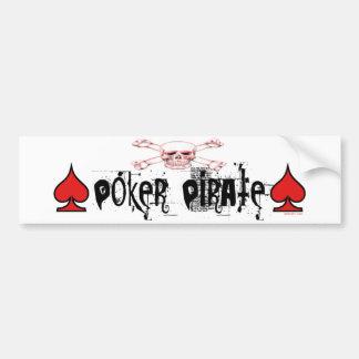 Pegatina para el parachoques del pirata del póker etiqueta de parachoque