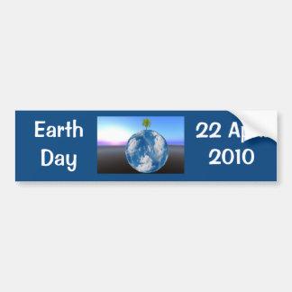 Pegatina para el parachoques del planeta del Día d Pegatina De Parachoque