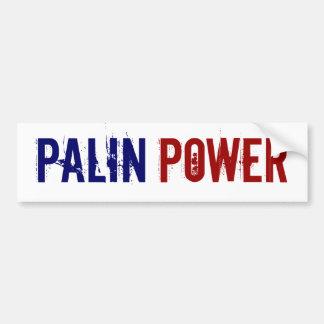 Pegatina para el parachoques del poder de Palin Pegatina Para Auto