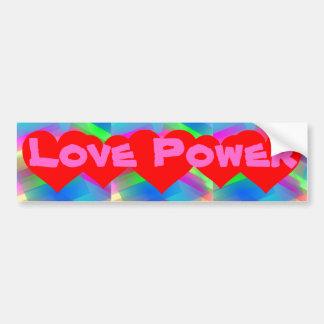 Pegatina para el parachoques del poder del amor pegatina para auto