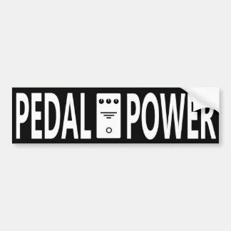 Pegatina para el parachoques del poder del pedal etiqueta de parachoque