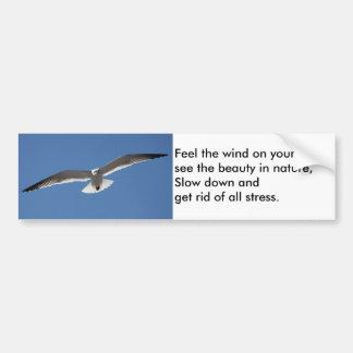 Pegatina para el parachoques del poema del vuelo d pegatina para auto