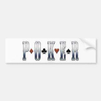 Pegatina para el parachoques del póker etiqueta de parachoque