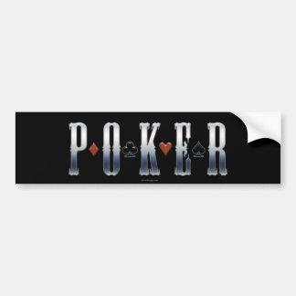 Pegatina para el parachoques del póker pegatina para auto