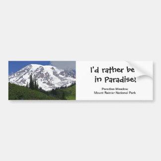 Pegatina para el parachoques del prado del paraíso etiqueta de parachoque