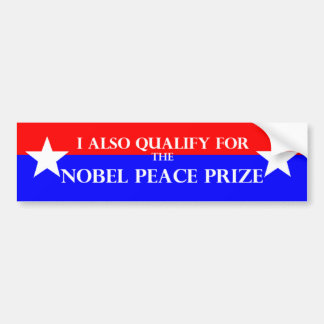 Pegatina para el parachoques del Premio Nobel Pegatina De Parachoque