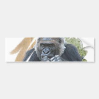 Pegatina para el parachoques del primate del goril etiqueta de parachoque
