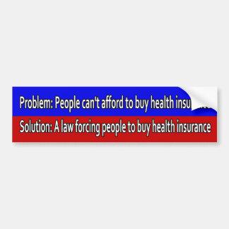 Pegatina para el parachoques del problema de Obama Pegatina Para Auto