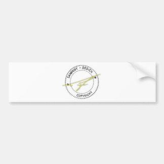 Pegatina para el parachoques del promo pegatina para auto