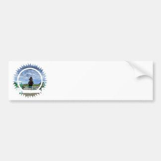 Pegatina para el parachoques del puente del caball pegatina de parachoque