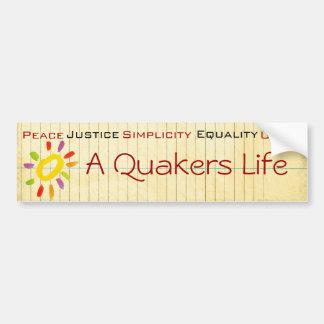 Pegatina para el parachoques del Quaker Pegatina Para Auto