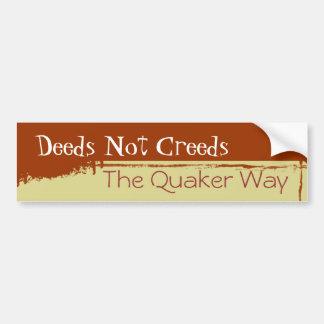 Pegatina para el parachoques del Quaker Etiqueta De Parachoque