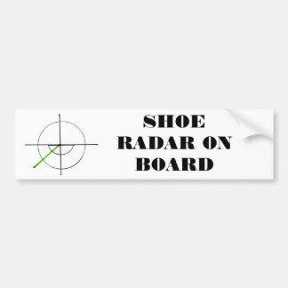 ¡Pegatina para el parachoques del radar del zapato Pegatina Para Auto