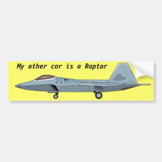 Pegatina para el parachoques del rapaz F-22 Pegatina De Parachoque