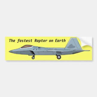 Pegatina para el parachoques del rapaz F-22 Etiqueta De Parachoque