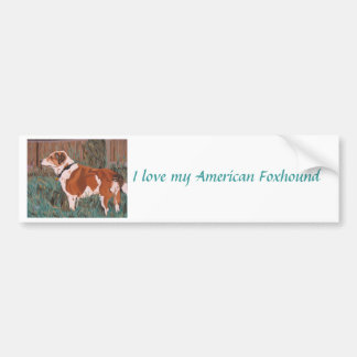Pegatina para el parachoques del raposero american etiqueta de parachoque