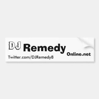 Pegatina para el parachoques del remedio de DJ Etiqueta De Parachoque
