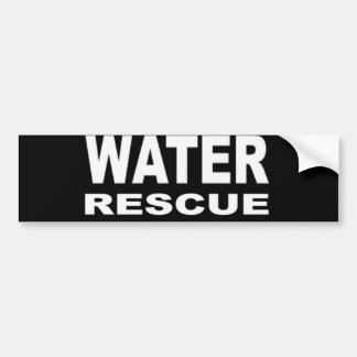Pegatina para el parachoques del rescate del agua pegatina para auto