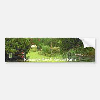 Pegatina para el parachoques del rescate del ranch pegatina para auto