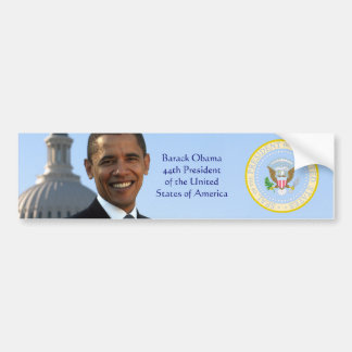Pegatina para el parachoques del retrato de Barack Pegatina De Parachoque