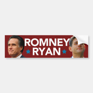 Pegatina para el parachoques del retrato de Romney Etiqueta De Parachoque