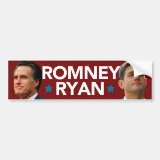 Pegatina para el parachoques del retrato de Romney Pegatina Para Auto