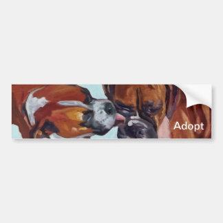 Pegatina para el parachoques del retrato del perro pegatina para auto