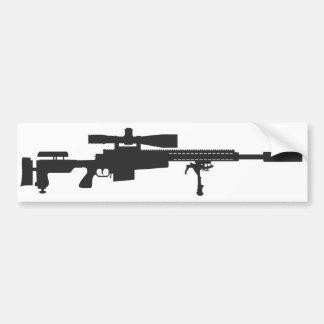 Pegatina para el parachoques del rifle de francoti pegatina para auto