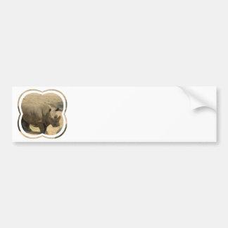 Pegatina para el parachoques del rinoceronte pegatina de parachoque