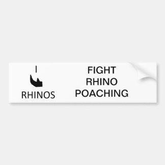 Pegatina para el parachoques del rinoceronte del c pegatina de parachoque