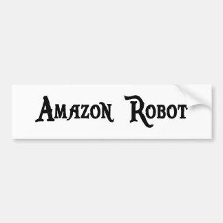 Pegatina para el parachoques del robot del Amazona Etiqueta De Parachoque