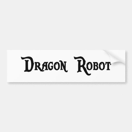 Pegatina para el parachoques del robot del dragón pegatina para auto