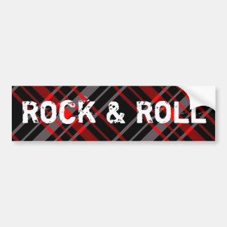 Pegatina para el parachoques del rock-and-roll de  etiqueta de parachoque
