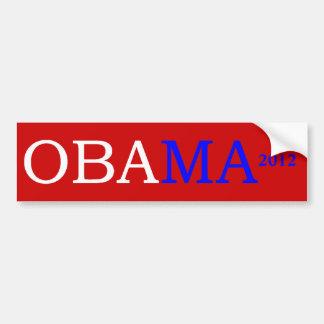 Pegatina para el parachoques del rojo de Obama 201 Pegatina Para Auto
