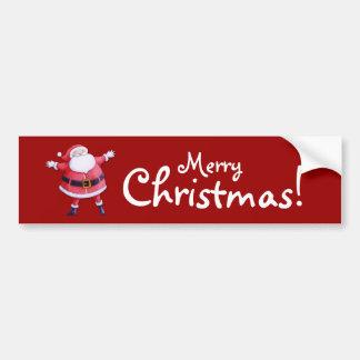 Pegatina para el parachoques del rojo de Papá Noel Pegatina Para Auto