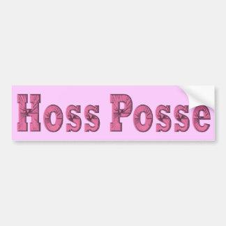 pegatina para el parachoques del rosa de la pandil etiqueta de parachoque