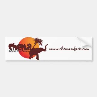 Pegatina para el parachoques del safari de Chema Etiqueta De Parachoque