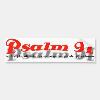 pegatina para el parachoques del salmo 91 (lengua  pegatina para auto