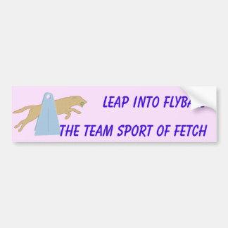 Pegatina para el parachoques del salto de Flyball Pegatina Para Auto