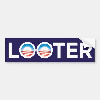 Pegatina para el parachoques del saqueador de Obam Pegatina Para Auto