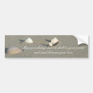 Pegatina para el parachoques del Seashell Pegatina De Parachoque
