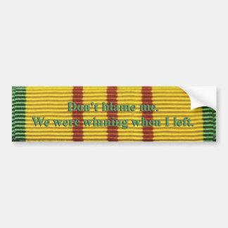 Pegatina para el parachoques del servicio de Vietn Etiqueta De Parachoque