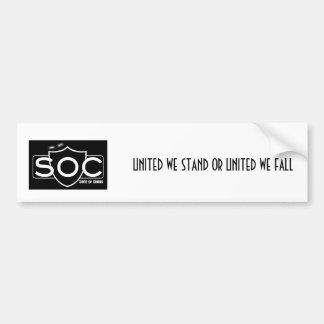 Pegatina para el parachoques del SOC Etiqueta De Parachoque