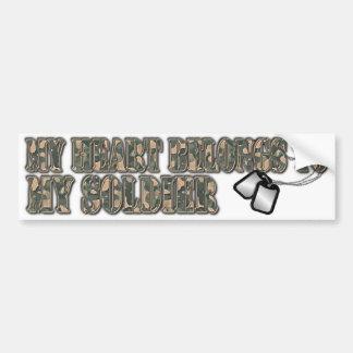 pegatina para el parachoques del soldado etiqueta de parachoque