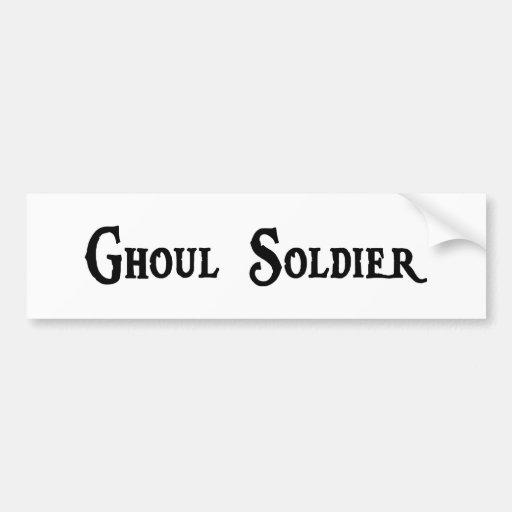 Pegatina para el parachoques del soldado del espír pegatina de parachoque