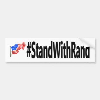 pegatina para el parachoques del #StandWithRand Etiqueta De Parachoque