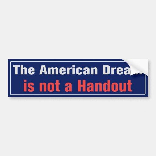 Pegatina para el parachoques del sueño americano etiqueta de parachoque