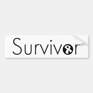 Pegatina para el parachoques del superviviente pegatina para auto